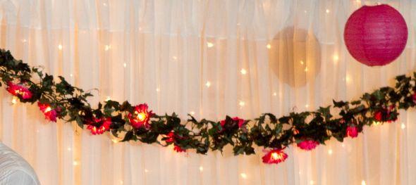 Fuchsia & Tangerine Wedding Decorations : wedding fuchsia tangerine shells tropical love signs decor flower lights kissing balls pomanders orange pink white silver cake inspiration ceremony flowers diy reception Flower Lights