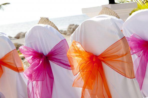 Fuchsia Tangerine Wedding Decorations wedding fuchsia tangerine shells