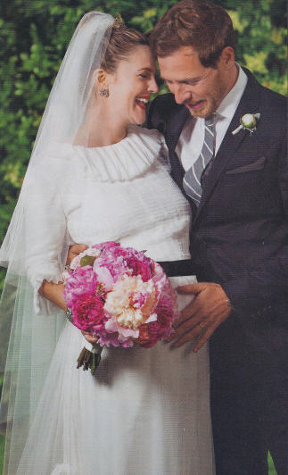 Drew Barrymore Wedding Dress - thoughts? :  wedding Drew Barrymore Will Kopelman