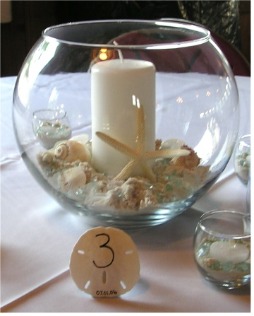 Beach Wedding Table Centerpieces Ideas