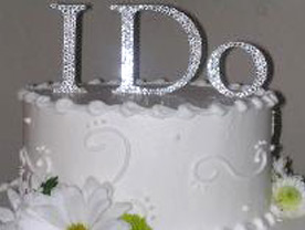 Easy DIY Cake Topper :  wedding diy cake cake topper purple silver inspiration reception Ido