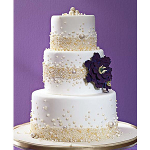 Easy DIY Cake Topper :  wedding diy cake cake topper purple silver inspiration reception Img Thing