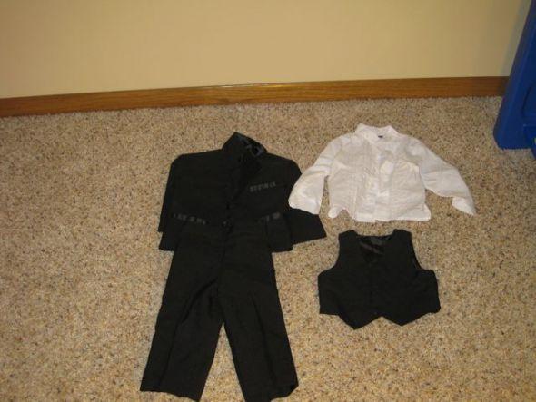 wedding baby tuxedo black tux kids tux black white