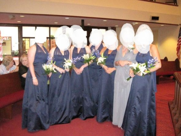 with me alone so here are pictures of the bridal party Davids