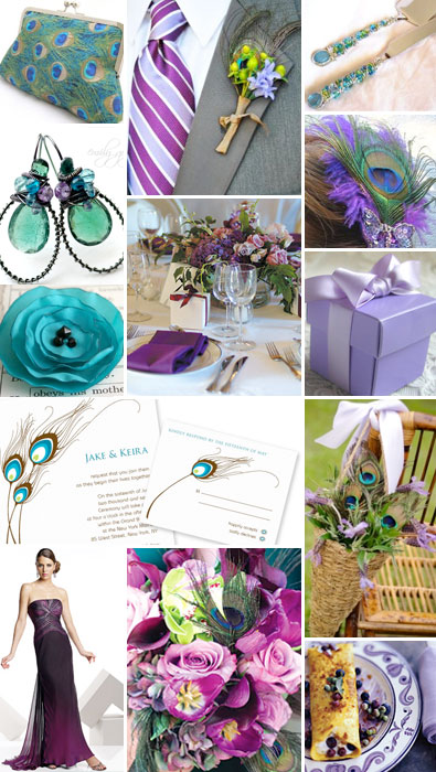 Feather Wedding wedding feathers themes Purple Feather