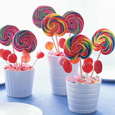 Carnival Wedding Centerpiece ideas wedding Lollipop Centerpiece Rachael