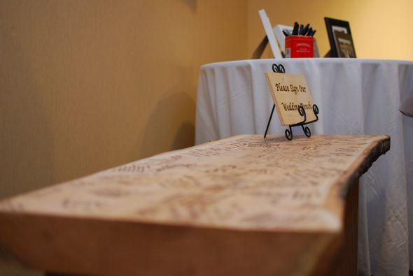 Wedding Bench Guestbook : wedding guestbook bench diy reception Alice Eddie Wedding 407