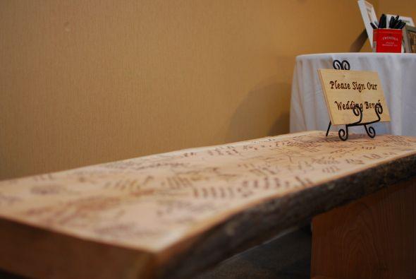 Wedding Bench Guestbook : wedding guestbook bench diy reception Alice Eddie Wedding 408
