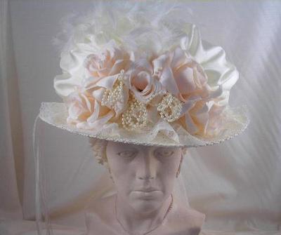 Bridal hat or veil Victorian wedding theme wedding Bridal Hat1