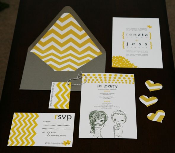 My Modern + Affordable DIY Invitations