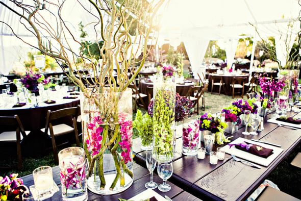 Ang s blog gunmetal gray wedding decor country chic wedding table