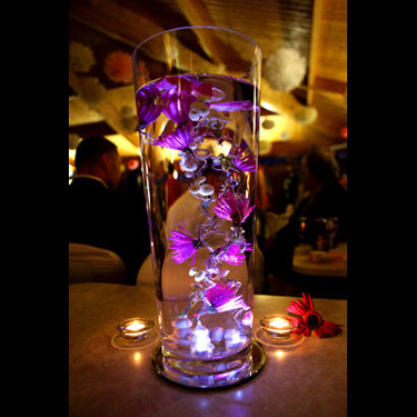 this flower centerpiece Help please wedding Purple Lighted Submerged