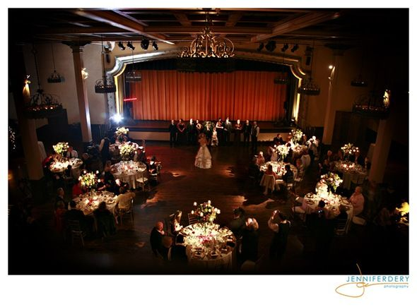 ceremony possibly seated at round tables wedding Cabaret Style Seating